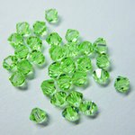 EK Success - Jolee's Jewels - Crystallized Swarovski Elements Collection - Jewelry Beads - Bicone - 4 mm - Chrysolite