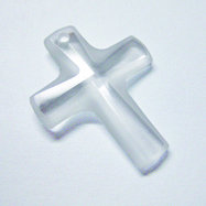 EK Success - Jolee's Jewels - Crystallized Swarovski Elements Collection - Jewelry Pendant - Cross - 20 mm x 16 mm - Crystal