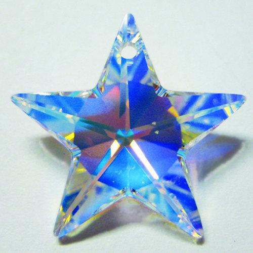 EK Success - Jolee's Jewels - Crystallized Swarovski Elements Collection - Jewelry Pendant - Star - 20 mm - Crystal Aurora Borealis