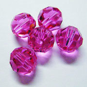 EK Success - Jolee's Jewels - Crystallized Swarovski Elements Collection - Jewelry Beads - Round - 8 mm - Rose