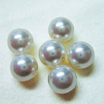 EK Success - Jolee's Jewels - Crystallized Swarovski Elements Collection - Jewelry Beads - Pearl - 8 mm - White