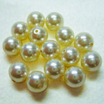 EK Success - Jolee's Jewels - Crystallized Swarovski Elements Collection - Jewelry Beads - Pearl - 6 mm - Cream