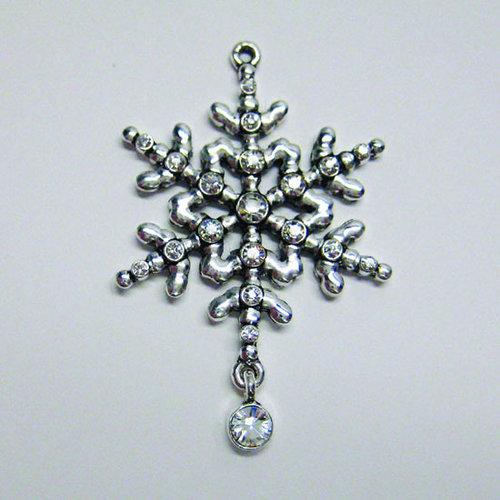 EK Success - Jolee's Jewels - Crystallized Swarovski Elements Collection - Jewelry Pendant - Snowflake - Crystal