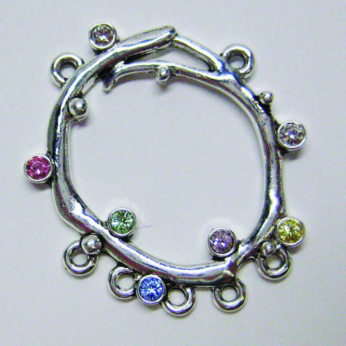 EK Success - Jolee's Jewels - Crystallized Swarovski Elements Collection - Jewelry Pendant - Crystal Ring - Light Mix