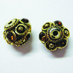 EK Success - Jolee's Jewels - Crystallized Swarovski Elements Collection - Jewelry Sliders - Fancy Ball - Small - Smoked Topaz