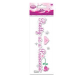 EK Success - Disney - 3 Dimensional Title Stickers - Pretty As A Princess