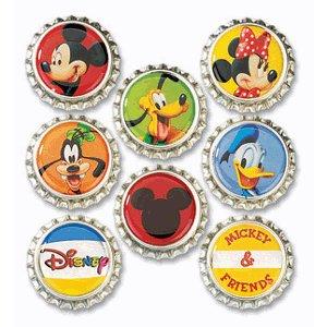 EK Success Disney Collection Bottle Caps - Mickey
