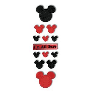 Disney Adhesive Tiles - Red and Black Mickey Icon