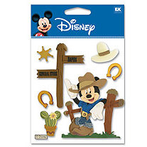 EK Success - Disney - 3 Dimensional Stickers - Western Mickey