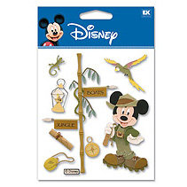 EK Success - Disney - 3 Dimensional Stickers - Jungle Mickey