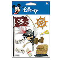 EK Success - Disney - 3 Dimensional Stickers - Pirate Mickey