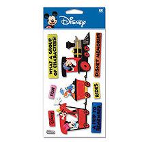 EK Success - Disney - 3 Dimensional Stickers - Train Mickey, CLEARANCE