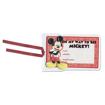 EK Success - Disney Collection - 3-D Luggage Sticker - Mickey Mouse
