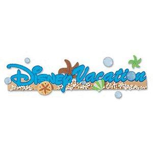 EK Success Disney Collection Title Stickers - Disney Vacation
