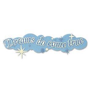 EK Success Disney Collection Title Stickers - Dreams Do Come True