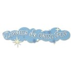 EK Success Disney Collection Title Stickers - Dreams Do Come True