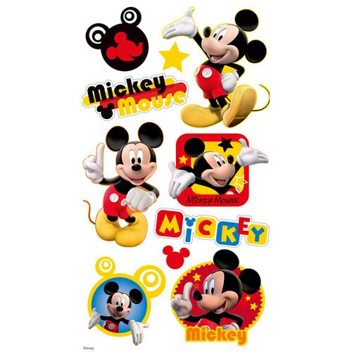 EK Success - Disney - Mickey Mouse Collection - 3 Dimensional Puffy Stickers - Mickey Mouse