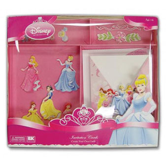 EK Success - Disney Collection - Create Your Own Card Set - 10 Cards With Envelopes - Princess Invitation Cards, CLEARANCE
