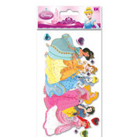 EK Success - Disney - Princess Collection - 3 Dimensional Stickers - Princess Group