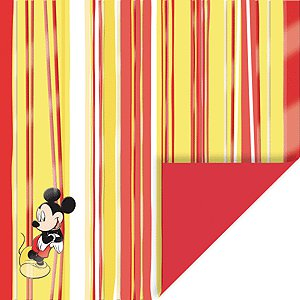EK Success Disney Collection Patterned Paper - Mickey and Stripes Double Sided