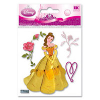 EK Success - Disney Princess Collection - 3 Dimensional Stickers - Belle with Rose, CLEARANCE