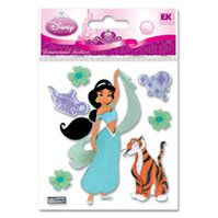 EK Success - Disney Princess Collection - 3 Dimensional Stickers - Jasmine Rajah, BRAND NEW