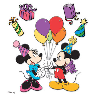 EK Success - Disney Collection - 3 Dimensional Stickers - Mickey B'Day