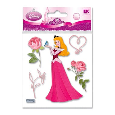 EK Success - Disney Princess Collection - 3 Dimensional Stickers - Sleeping Beauty with Rose, BRAND NEW