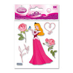 EK Success - Disney Princess Collection - 3 Dimensional Stickers - Sleeping Beauty with Rose, CLEARANCE