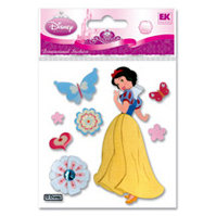 EK Success - Disney Princess Collection - 3 Dimensional Stickers - Snow White Butterflies, BRAND NEW