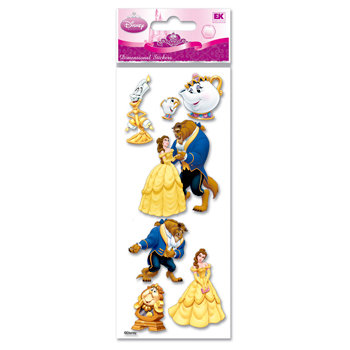 EK Success - Disney Princess Collection - 3 Dimensional Stickers - Beauty and the Beast, BRAND NEW