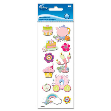 EK Success - Disney Princess Collection - 3 Dimensional Stickers - Princess Icons, BRAND NEW