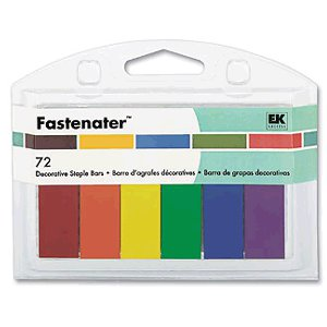 EK Success - Fastenater Decorative Staple Bars - Primary