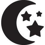 EK Success - Paper Shapers - Medium Punch - Moon and Stars