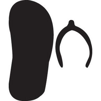 EK Success - Paper Shapers - Medium Punch - Flip Flop