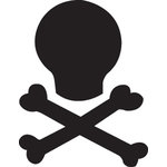 EK Success - Paper Shapers - Medium Punch - Skull 'N Bones