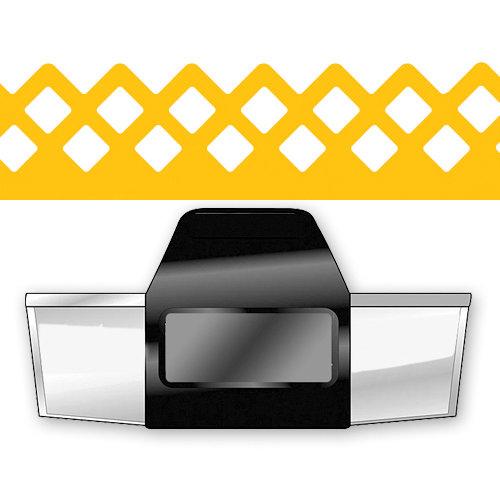 EK Success - Paper Shapers - Slim Profile - Edger Punch - Lattice