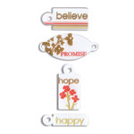 EK Success - Inspirables - Beauty Collection - Frosted Tags, CLEARANCE