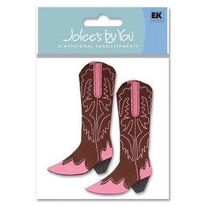 EK Success - Jolee's By You - 3D Embellishment Stickers - Women's Cowboy Boots, CLEARANCE