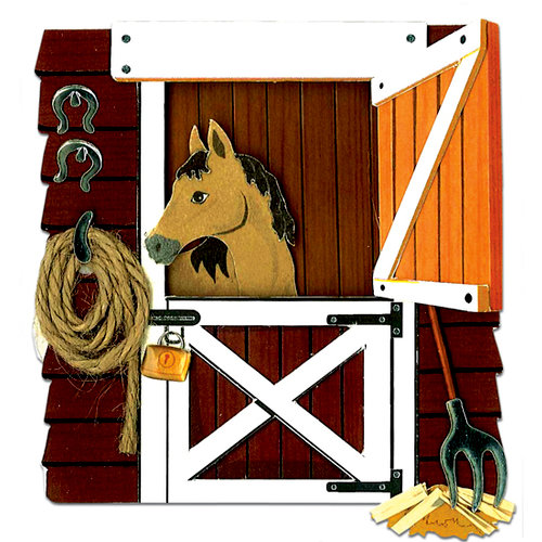 EK Success - Jolee's by You - 3 Dimensional Stickers - Horse in the Stable
