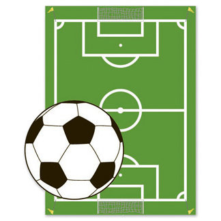 EK Success - Jolee's By You - Dimensional Stickers - Soccerball and Field