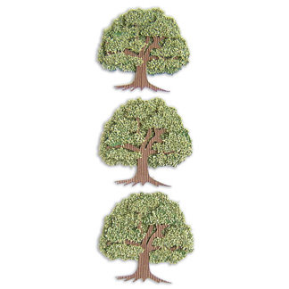 EK Success - Jolee's By You  Slims - Dimensional Stickers - Trees