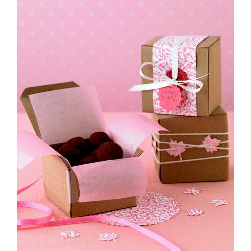 Martha Stewart Crafts - Square Goodie Boxes - Kraft, BRAND NEW