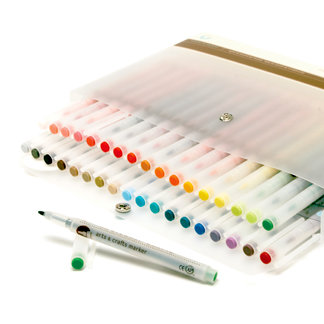 Martha Stewart Crafts - Art and Craft Marker Set - Size 1.2mm Bullet-Tip - 36 Piece Set