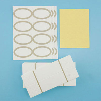 Martha Stewart Crafts - Customizable Candy Favor Boxes - Ivory