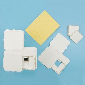 Martha Stewart Crafts - Customizable Flourish Favor Boxes - Ivory, CLEARANCE