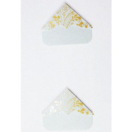 Martha Stewart Crafts - Photo Corners - Cloud Flourish with Gold, BRAND NEW