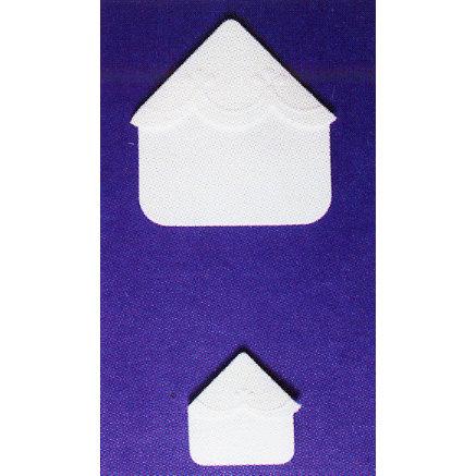 Martha Stewart Crafts - Embossed Photo Corners - White, BRAND NEW