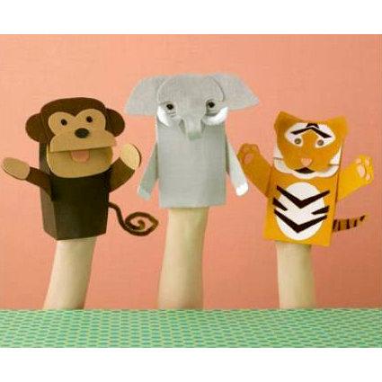Martha Stewart Crafts - Zoo Animal Puppet Kit, BRAND NEW