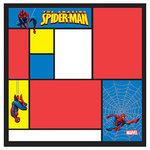 EK Success - 12x12 Embossed Paper - Marvel Collection - Heroes - Spiderman Color Block, CLEARANCE